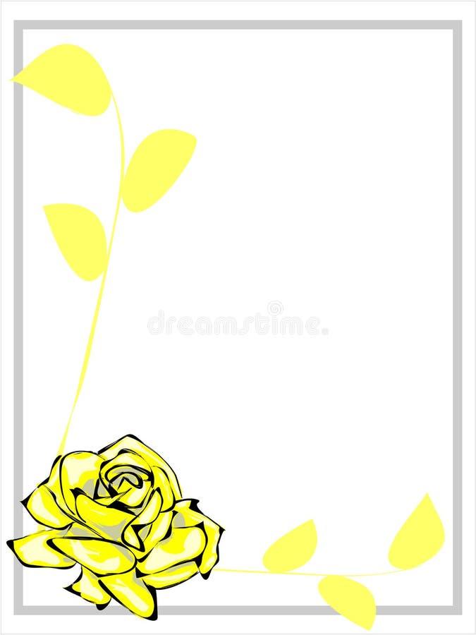 黄色罗斯边界 库存图片