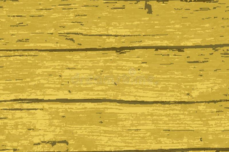 黄色老木材背景 皇族释放例证
