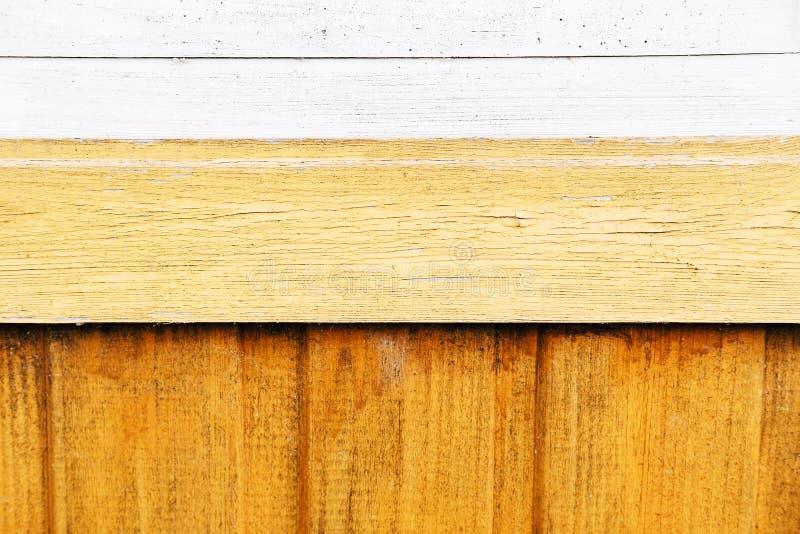 黄色老木纹理背景 免版税库存图片