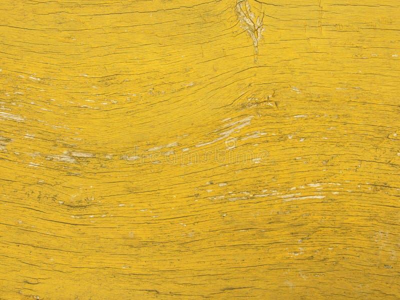 黄色色的老木板条纹理背景 免版税库存照片