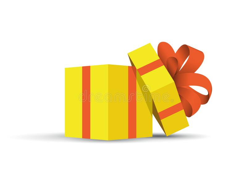 黄色被包裹的礼物 库存例证
