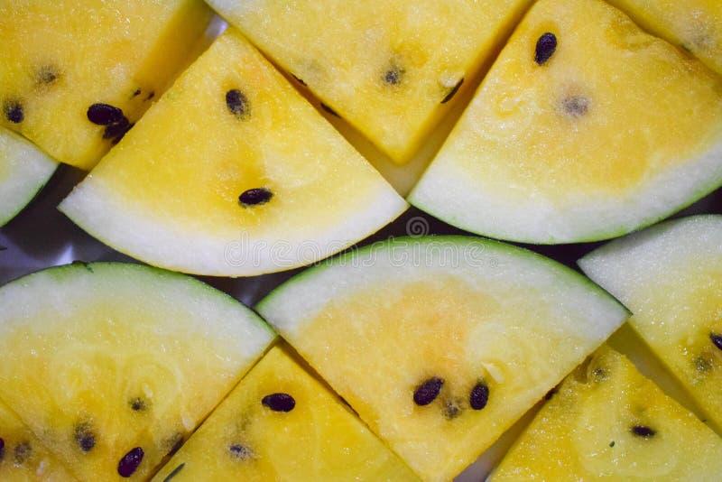 黄色西瓜 库存图片