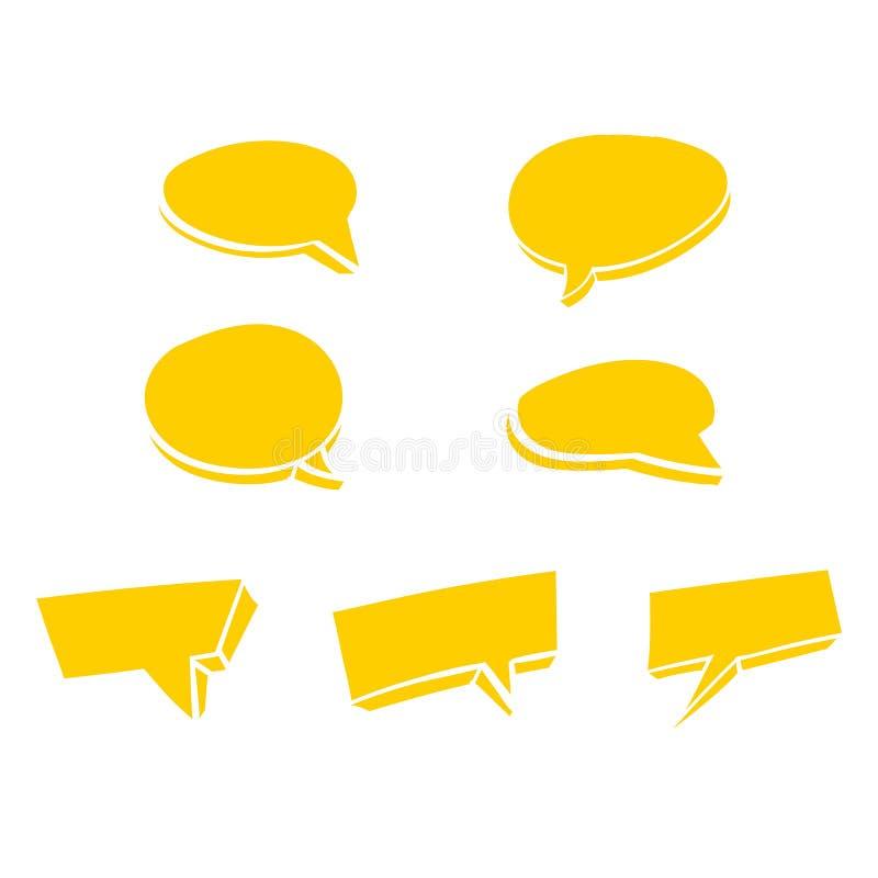 黄色讲话泡影乱画传染媒介 库存例证