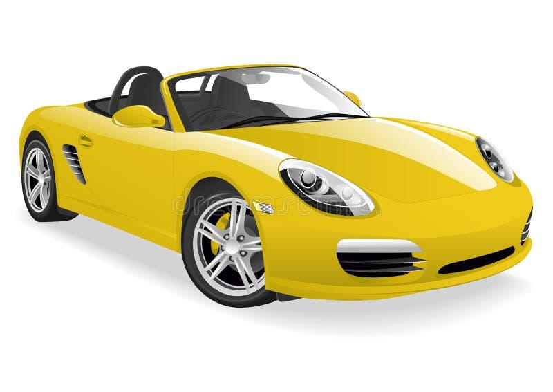 黄色跑车 库存例证