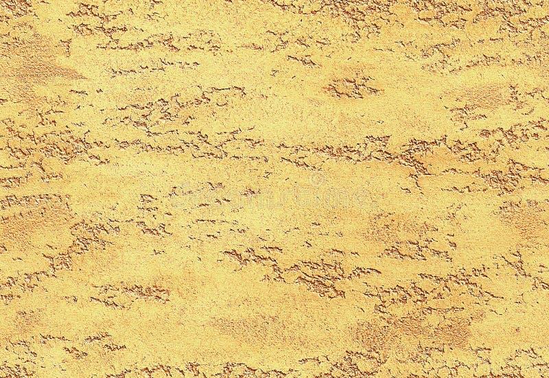 黄色金黄无缝的石纹理威尼斯式膏药样式背景样式 传统威尼斯式膏药石头纹理 免版税库存照片