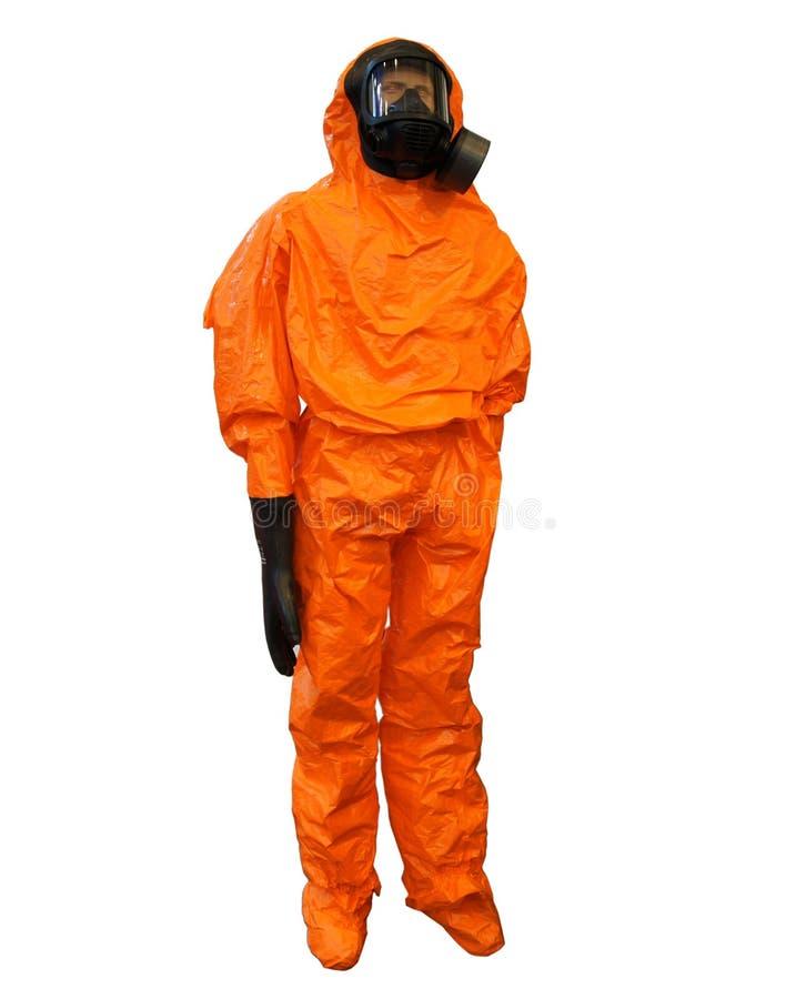 黄色防护服装 库存照片