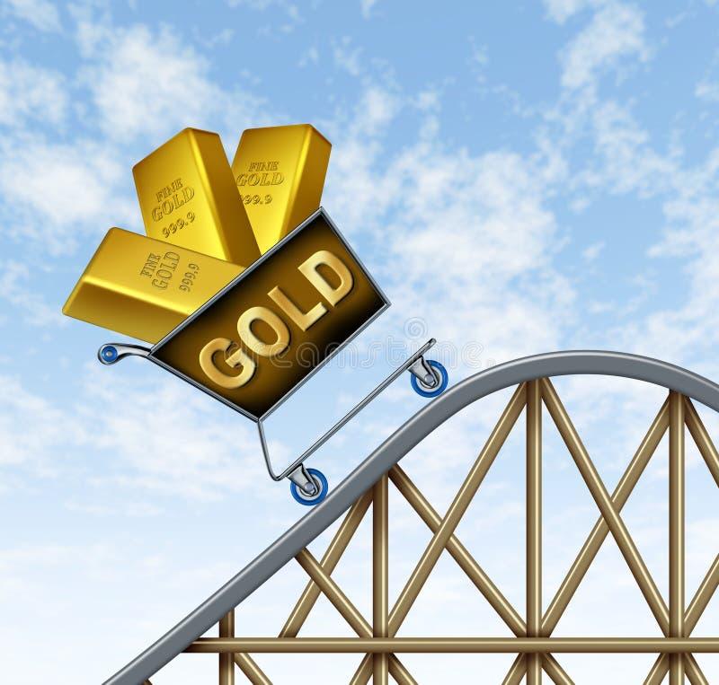 黄金价格上升 库存例证