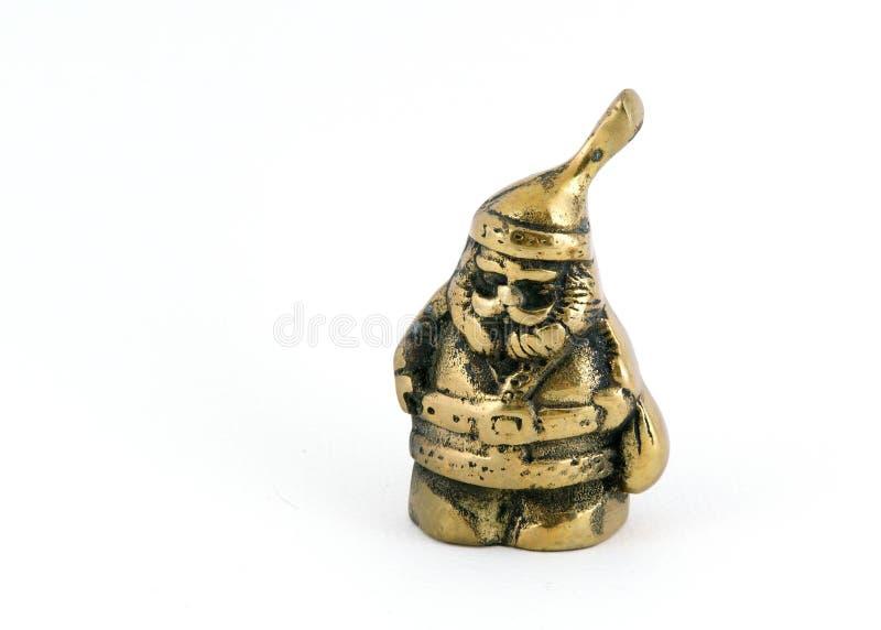 黄铜圣诞老人 库存图片