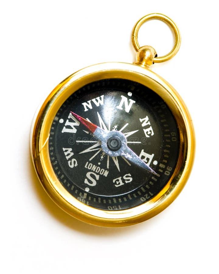 黄铜指南针老牌 图库摄影