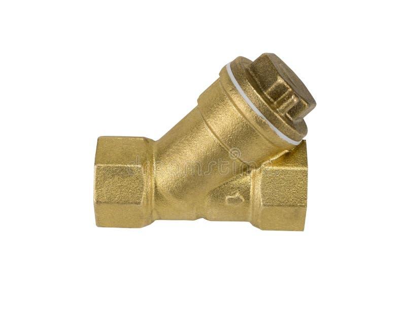 黄铜滤水器 库存照片