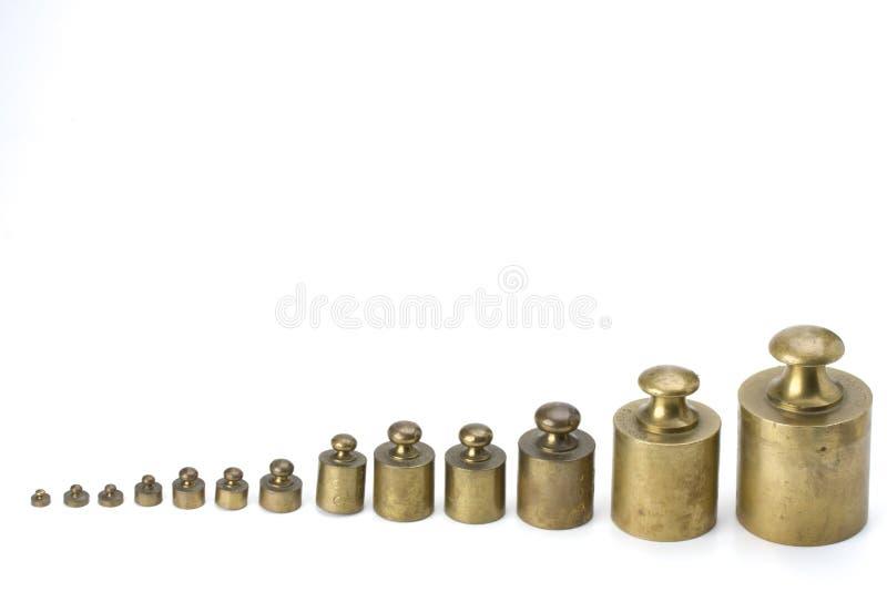 黄铜重量 免版税库存照片