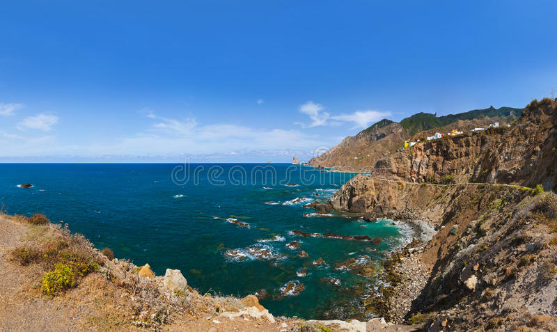 黄雀色海岸海岛西班牙tenerife 库存图片