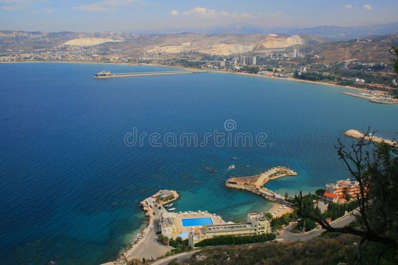 黎巴嫩北部超出的黎波里视图 库存照片
