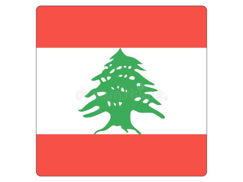 黎巴嫩的方形的旗子 皇族释放例证