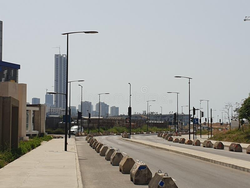 黎巴嫩贝鲁特街市街道地平线 库存照片