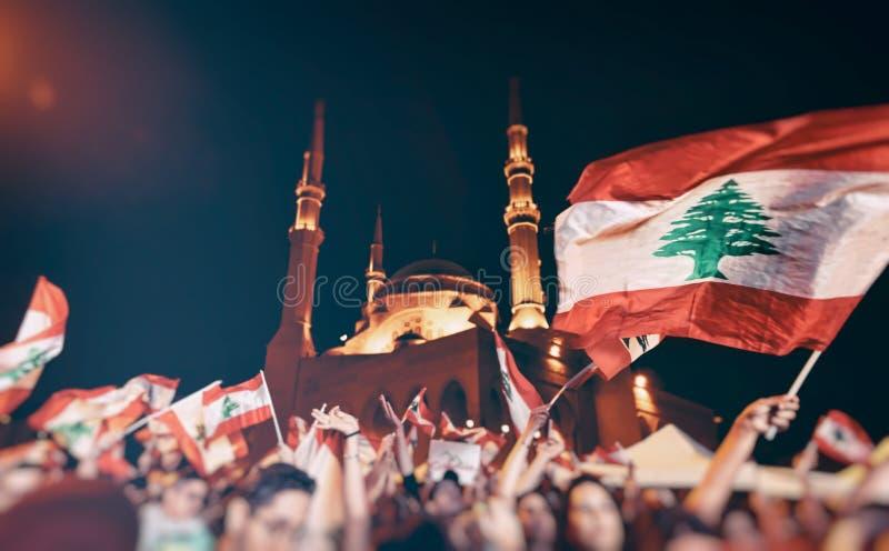 黎巴嫩革命 图库摄影