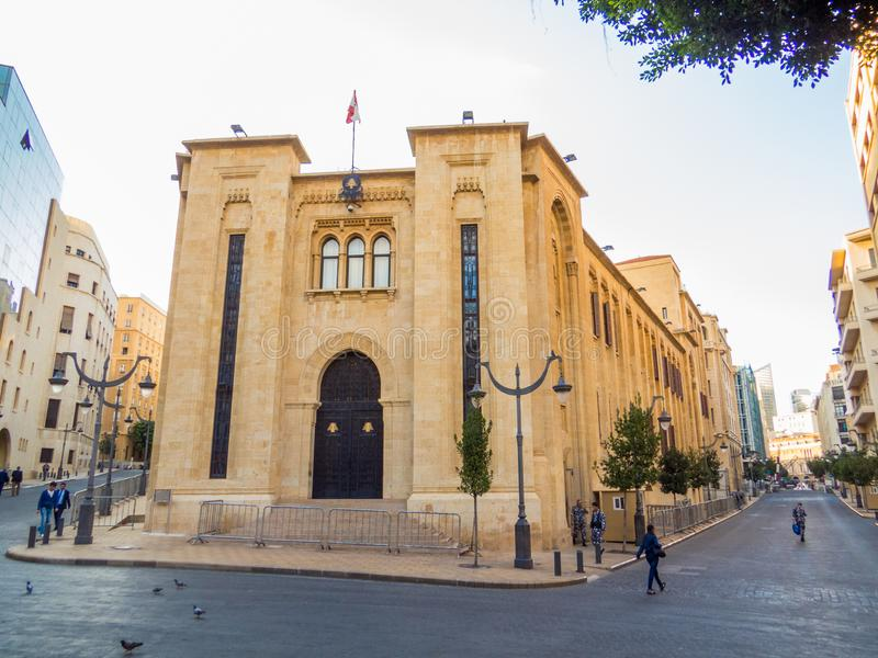 黎巴嫩,贝鲁特的议会 免版税库存照片