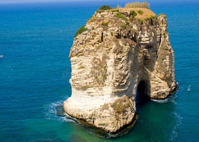黎巴嫩rouche 免版税库存照片