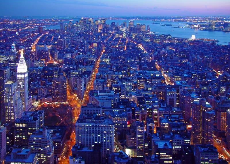 黎明南的曼哈顿 免版税库存图片
