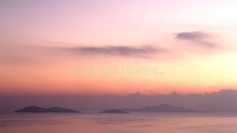 黎明海岛 免版税库存照片