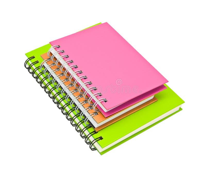 黏合剂书笔记本环形栈 免版税库存照片