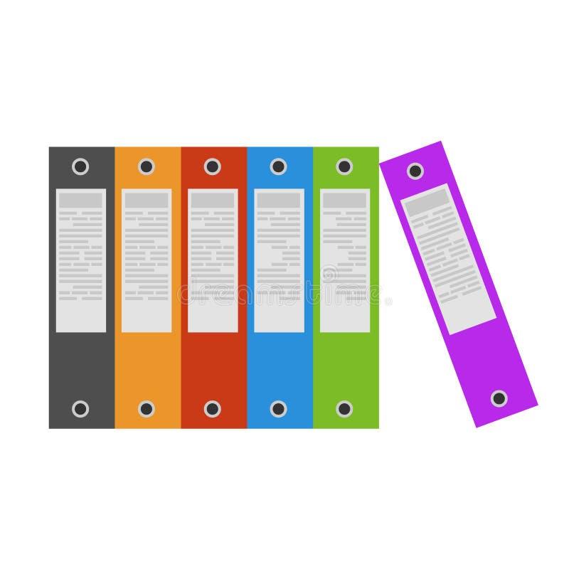 黏合剂办公室文件夹圆环象文件传染媒介 文件纸 库存例证
