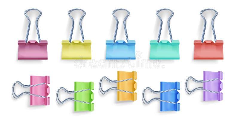 黏合剂夹子传染媒介例证 向量例证