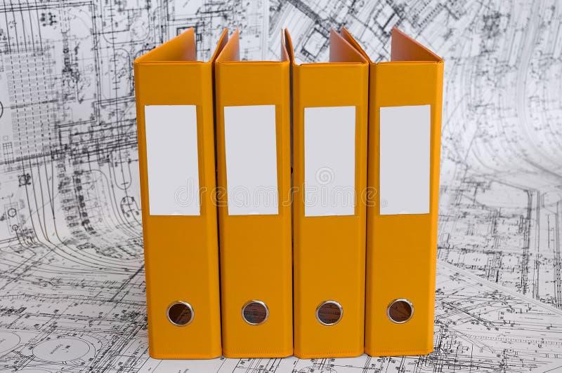 黏合剂设计图文件夹黄色 图库摄影