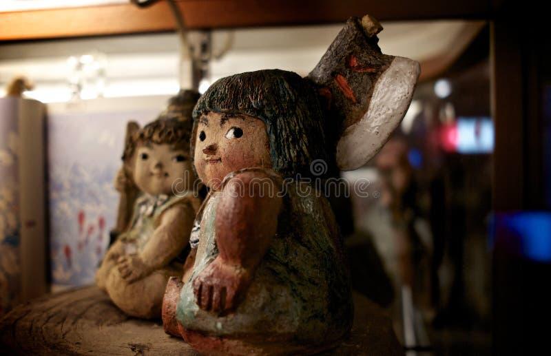 黏土在东京戏弄比喻 免版税库存图片