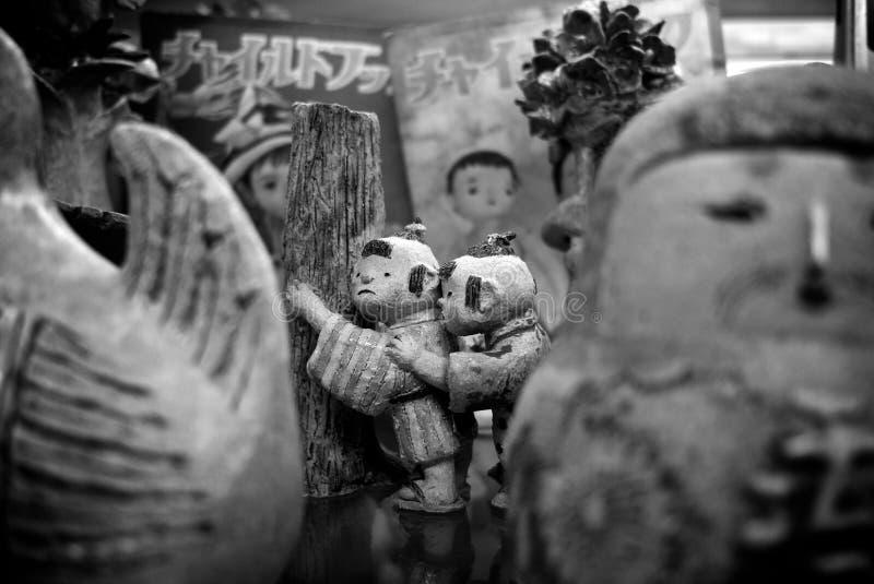 黏土在东京戏弄比喻 免版税图库摄影