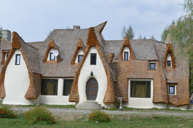 黏土城堡在锡比乌县 免版税库存照片