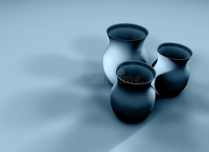 黏土水罐 免版税库存图片