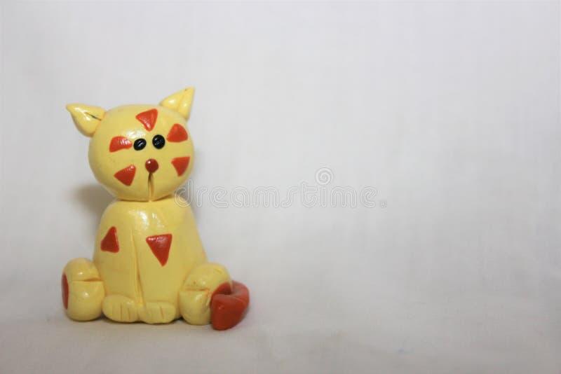 黏土猫 库存照片