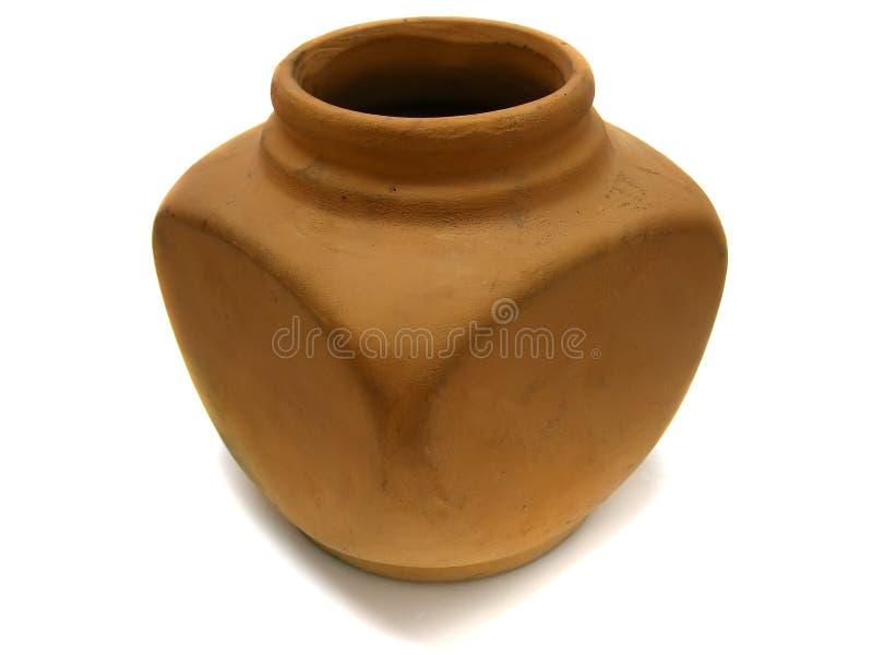 黏土老花瓶 免版税库存照片
