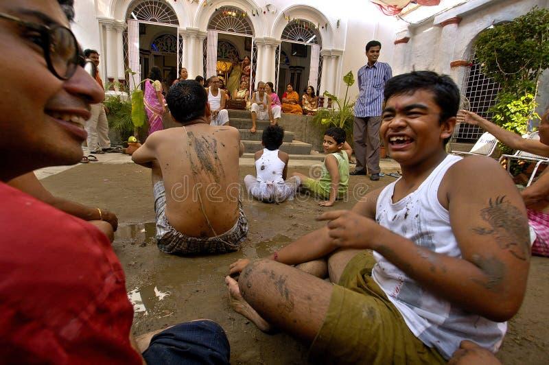 黏土durga节日神象印度s 库存图片