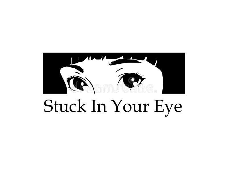 黏附在您的眼睛 皇族释放例证