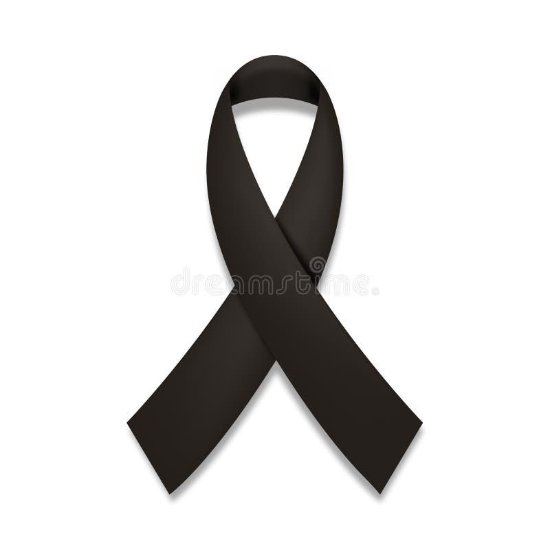 黑了悟丝带 哀悼和黑瘤象 皇族释放例证