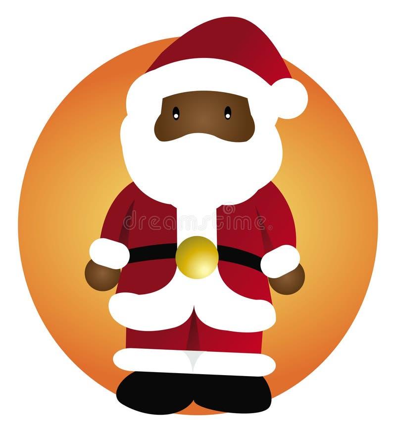 黑人克劳斯・圣诞老人 皇族释放例证