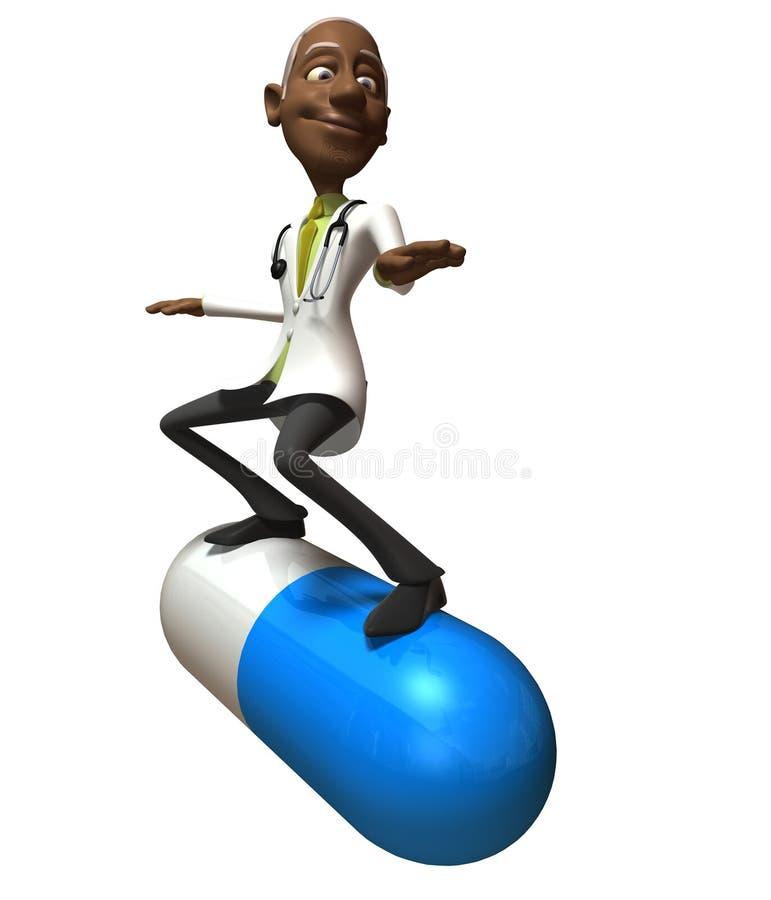黑人医生 库存例证