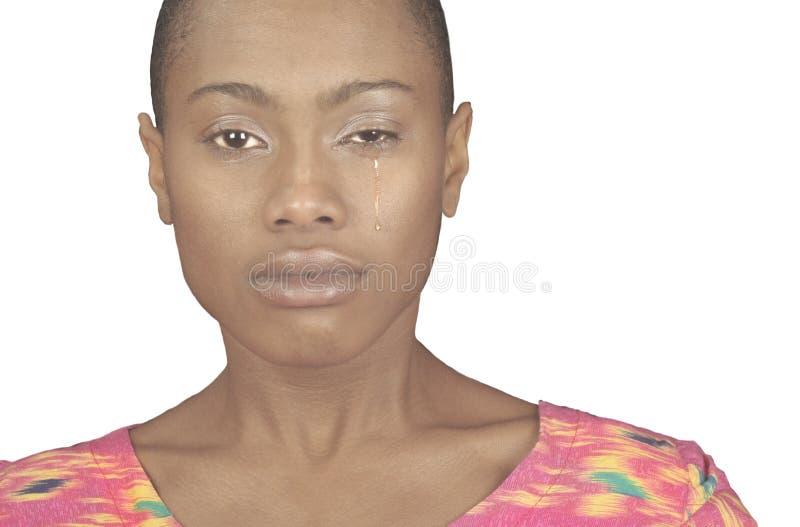 黑人哭泣的妇女 免版税库存图片