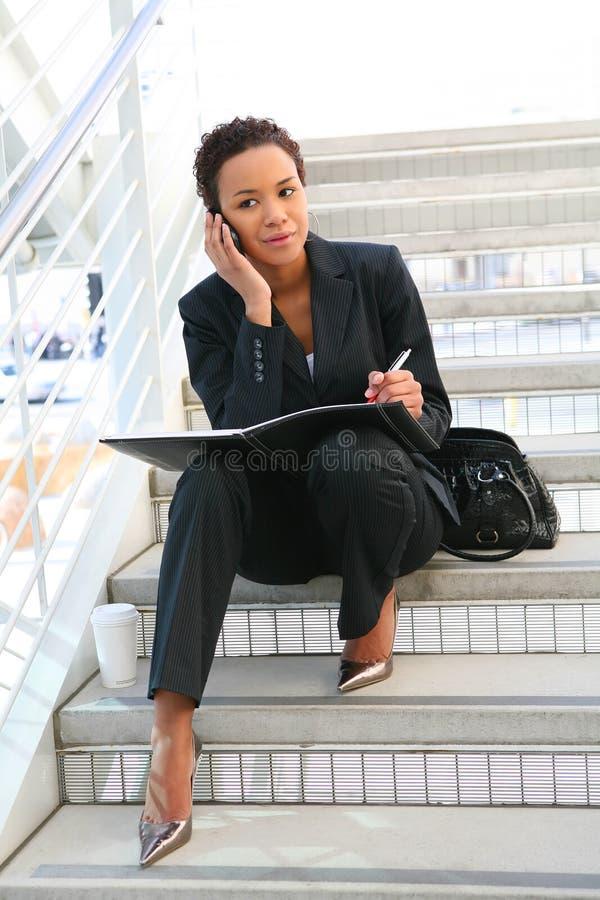 黑人女商人 免版税库存图片