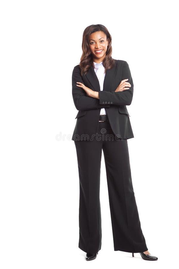 黑人女实业家 库存图片