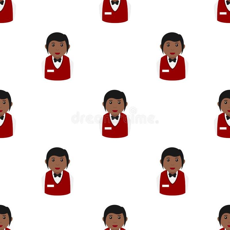 黑人妇女副主持人无缝的样式 皇族释放例证