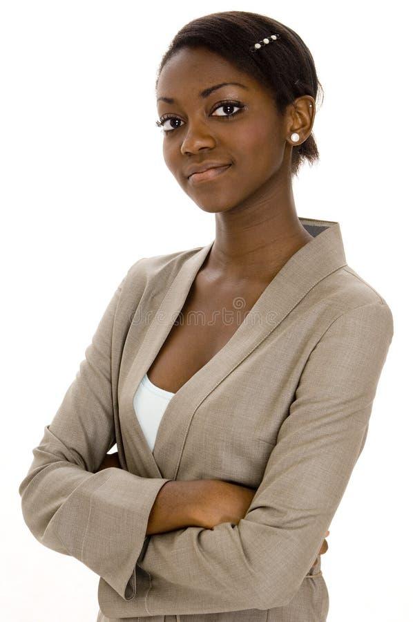 黑人妇女年轻人 免版税库存图片