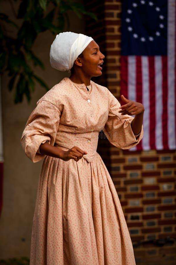 黑人殖民妇女 库存图片