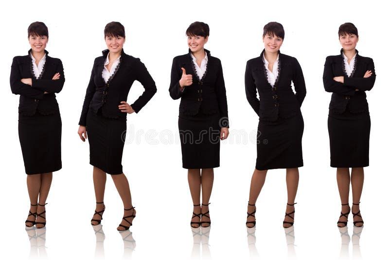 黑人深色的女实业家穿戴的诉讼 库存照片