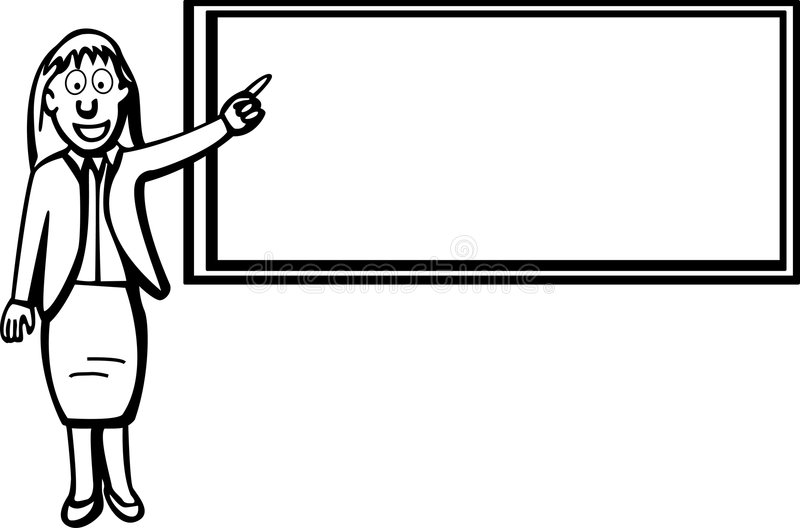 黑人董事会教师 向量例证