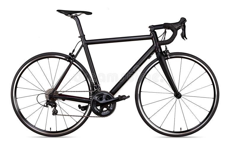 黑人赛跑的体育路自行车自行车竟赛者隔绝了 图库摄影