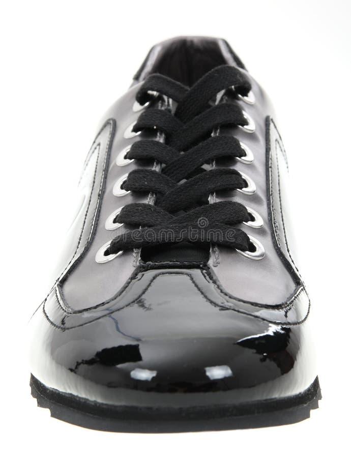 黑人鞋子 免版税库存照片
