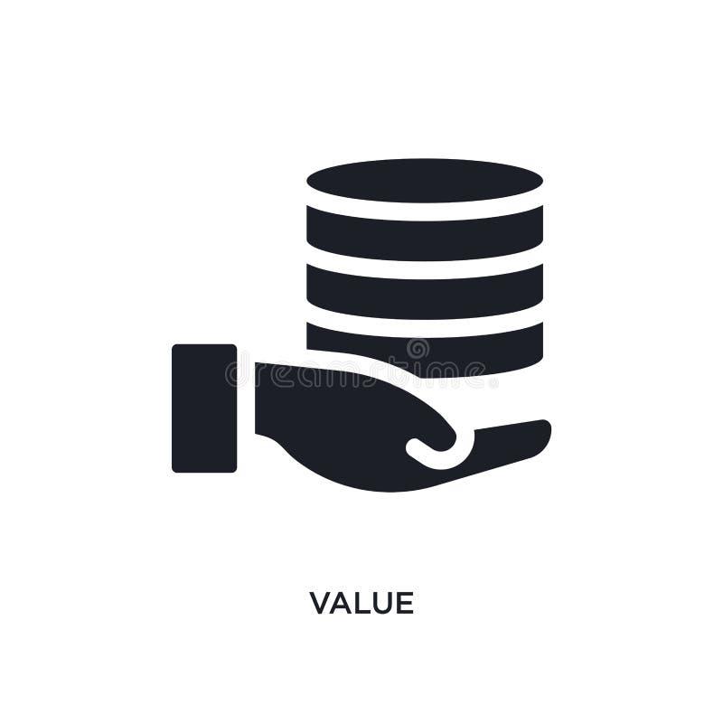 黑价值被隔绝的传染媒介象 从大数据概念传染媒介象的简单的元素例证 价值编辑可能的黑商标标志 皇族释放例证